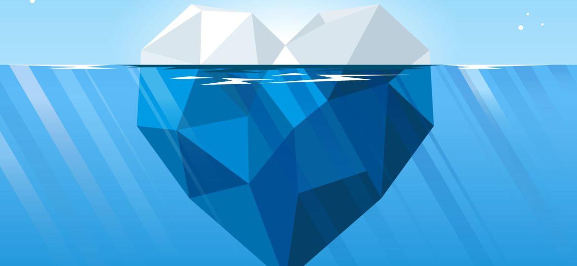 Iceberg,In,The,Heart,Shape,Floating,In,The,Deep,Blue